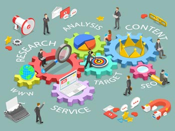 Online directory of holistic marketing services